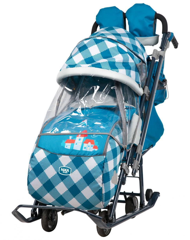 Санки-коляска Ника-Детям 7-4 капри в клетку