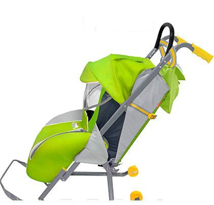 санки коляска с колесиками купить дешево