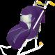 """Санки коляска """"Ника Детям 2"""" с колесиками -"""